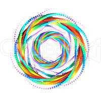 3D Rainbow Mandala