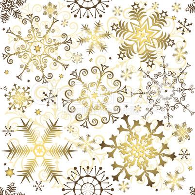 Seamless White Christmas Pattern