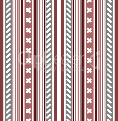 Seamless pink-white-grey striped pattern