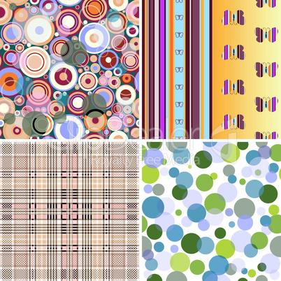 Set colorful seamless patterns