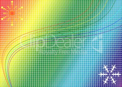 Mosaic Rainbow Background