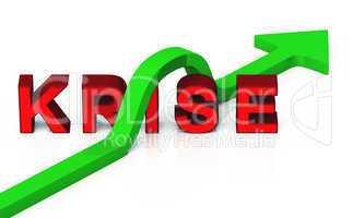 Grüner Pfeil Konzept - Die Krise überwinden