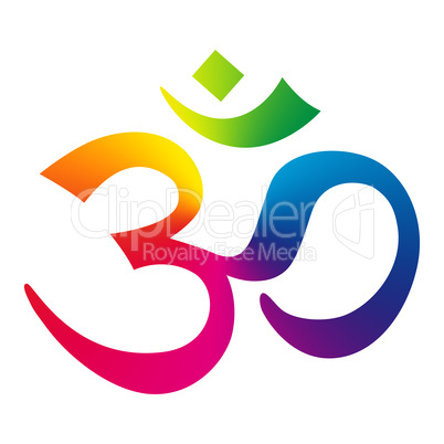 Rainbow Om Sign Aum Symbol Royalty Free Images Photos