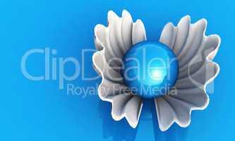 Blue Pearl + White Shell