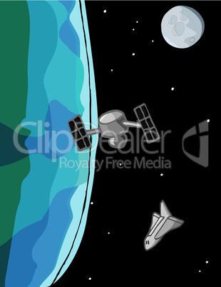 Space Shuttle Scene