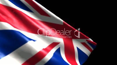 Flag of Great Britain - Dynamic HD Simulation