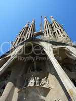 Sagrada familia church, Barcelona, Spain