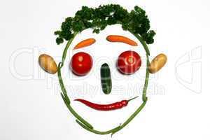 Gemüsegesicht