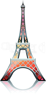 Eiffel tower orange