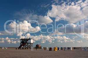 Strand an der Nordsee bei Sankt Peter-Ording