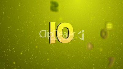 Floating Countdown Green HD1080