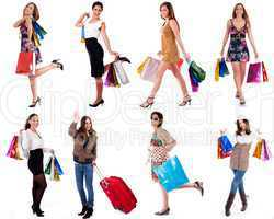 group of womens make shopping