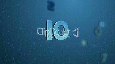 Floating Countdown Blue HD1080