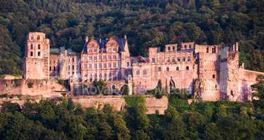 The Red Castle in Heidelberg, Germany