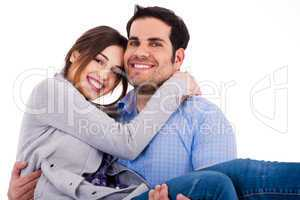 Young cheerful couples