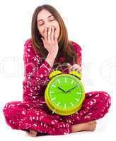 Young woman feeling sleepy