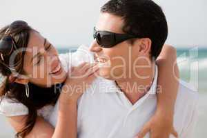 love couple look each other
