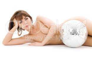 disco ball lady
