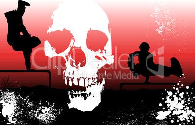extreme sports skull