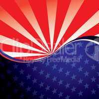 USA radiate background