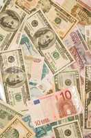 Dollars, euros, russian roubles - Money