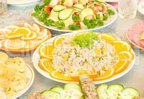 Salad with orange slices - Banquet
