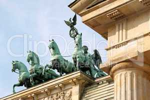 Quadriga of Brandenburg Gate in Berlin