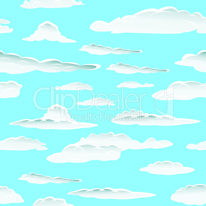 seamless clouds pattern