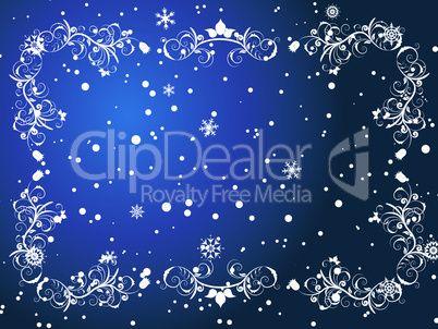 winter frame background