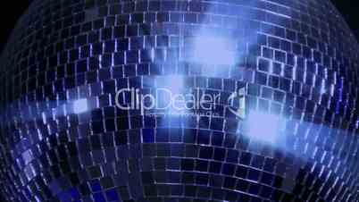 blue loop disco mirror ball series - center glitter