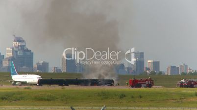 airport fire training steam and smoke