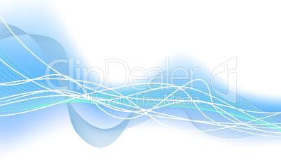 glowing water waves
