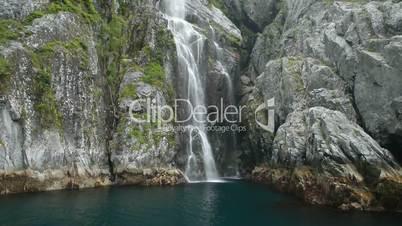 Waterfall rainforest fjord Alaska P HD 8369