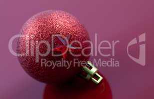 Weihnachtskugel mit Stern / christmas ball with star
