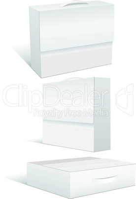 Vector illustration set of blank case or box.