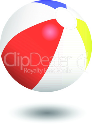 Inflatable beach ball vector illustration.