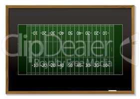 american football blackboard