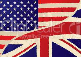usa british grunge flag