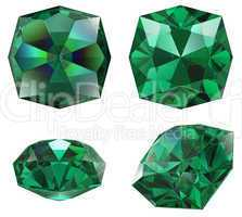 emerald gem isolated