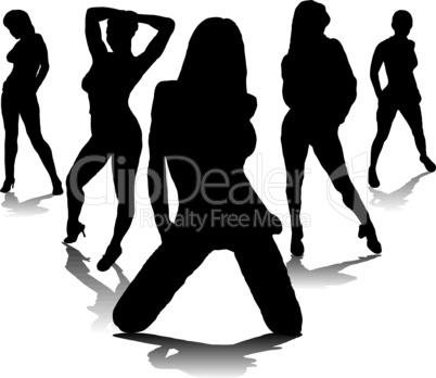 Frauen in Pose