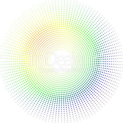 Gepunkteter Kreis
