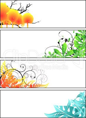 Florale Streifen