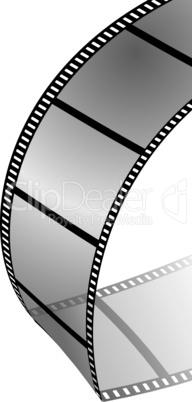 Gebogener Filmstreifen