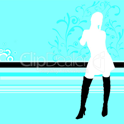 Silhouette einer Frau