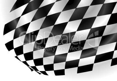 Schwarz-weiße Fahne