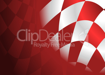 Rot-weiß karierte Fahne