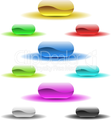 Glänzende Buttons