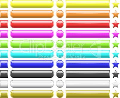 Regenbogenfarbene Buttons