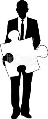 Geschäftsmann & Puzzle