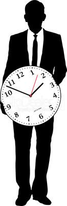 Geschäftsmann & Uhr
